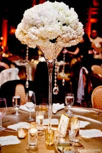 Martini Glass Flower Arrangement - tall wedding reception centerpieces weddings romantique