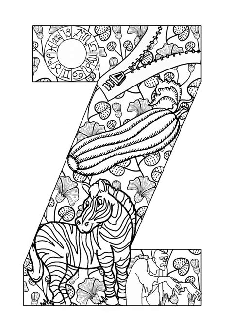 Z Coloring Pages Printable by Teach Your Their Abcs The Easy Way With Free