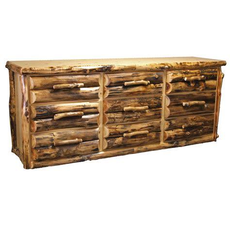 Large Drawer Dresser by Aspen Log Furniture Large Aspen 9 Drawer Dresser Black