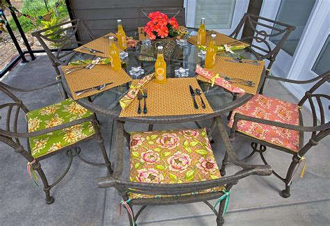 Patio Party Sitting Pretty Chair Cushions Sew4home How To Make Cushions For Patio Chairs
