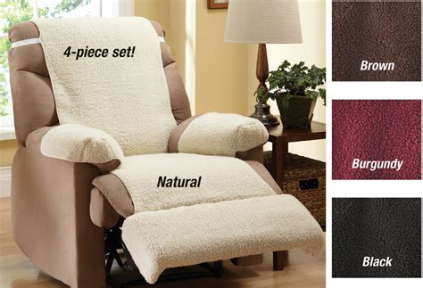 fleece recliner chair covers collections etc recliner fleece furniture covers set of 4