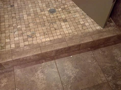 shower curb shower curb tile ideas rod