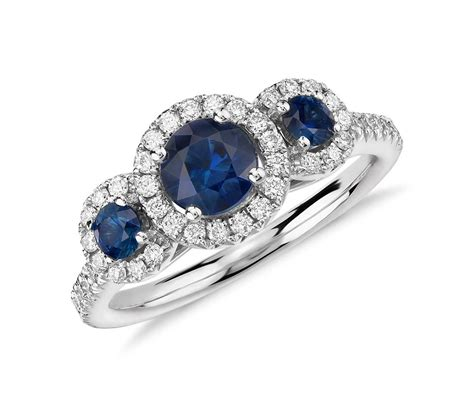 Sapphire Rings by Isola Sapphire And Three Ring In 14k White