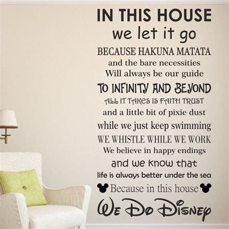 disney stickers for walls we do disney wall quote sticker decal home gift