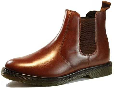 oaktrak winterhill brown bordo leather chelsea mens boots