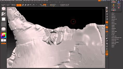 zbrush terrain tutorial sculpting rocks into zbrush tutorial youtube