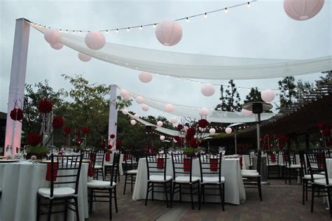 japanese garden outdoor lighting market string lights and beautiful chiffon draping at the