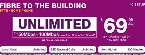 tpg fibre to the building fttb broadband with home phone