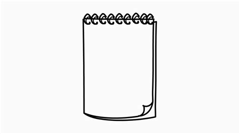 Drawing Notepad by Notepad Line Drawing Illustration Animation With