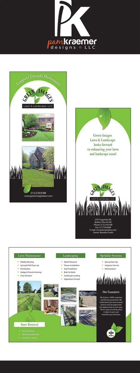 landscape brochure layout brochure design for a lawn and landscape company
