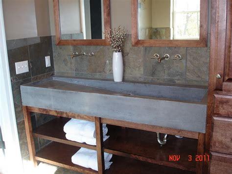 Diy Concrete Trough Sink by Custom Concrete Trough Sink Contemporary Bathroom