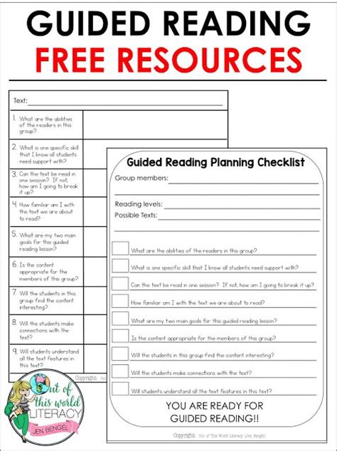 lesson plan checklist template guided reading guided reading groups and essential