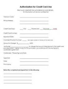 Authorization Letter For Credit Card Holder 5 Credit Card Authorization Form Templates Formats