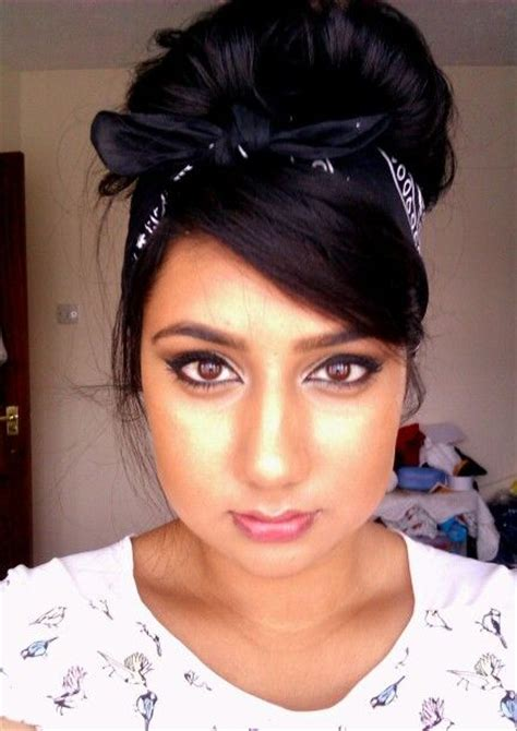 cute black pin up hairstyles bandana black bandana hairstyle updo pin up hairstyle