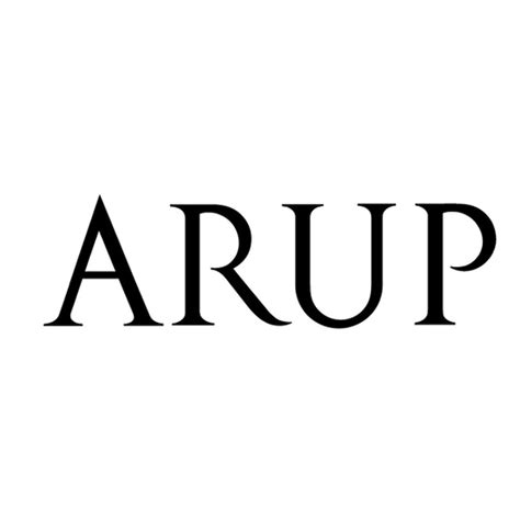 What's the font used for ARUP logo? Brown