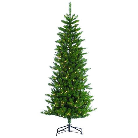 sterling 7 ft pre lit narrow augusta pine artificial