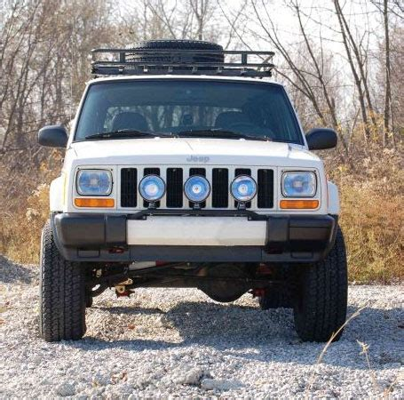 jeep xj light bar light bars on factory bumpers jeep forum