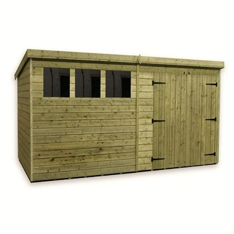 Pent Shed 6 X 3 by 12 X 6 Pressure Treated Tongue And Groove Pent Shed With