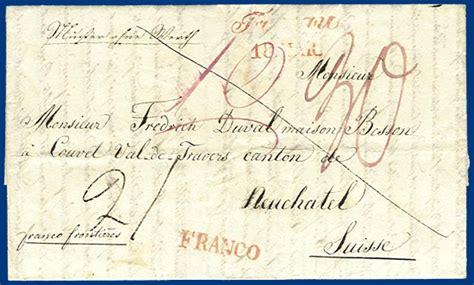 Schweiz Muster Ohne Wert 214 Sterreich Schweiz 1840 Quot Franco Quot Muster Ohne Wert Brief V Troppau S837 183 Heiner Zinoni