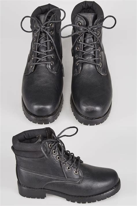 black lace up ankle boots in eee fit 4eee 5eee 6eee