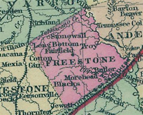 freestone county maps