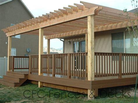 wood deck with pergola utah s deck experts