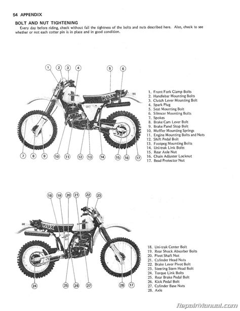 motocross bike repairs 1980 1982 kawasaki kdx175 a motorcycle repair and