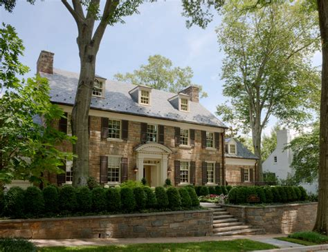 Pro Curb Appeal - stone georgian home traditional exterior dc metro by barnes vanze architects inc