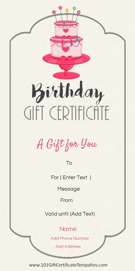 free gift certificate maker template birthday gift certificate template gift ideas