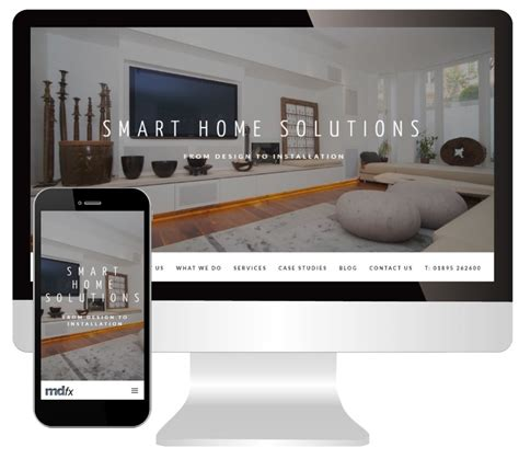 the new website for stylish smart home automation specialists