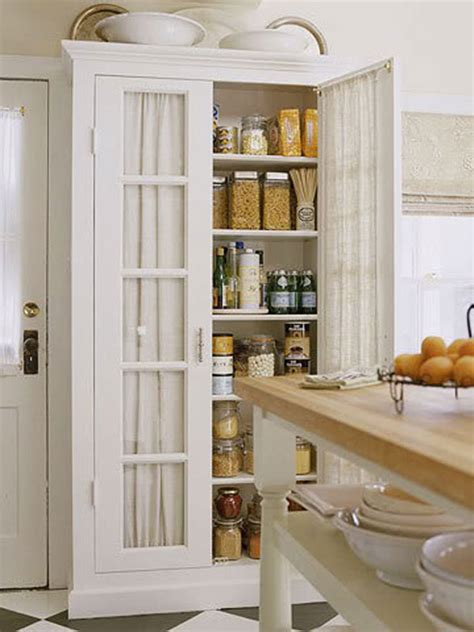 free standing pantry on standing kitchen