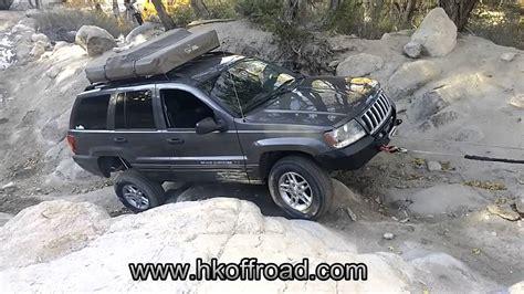 jeep wj rear bumper hk offroad winch bumper durability test jeep grand