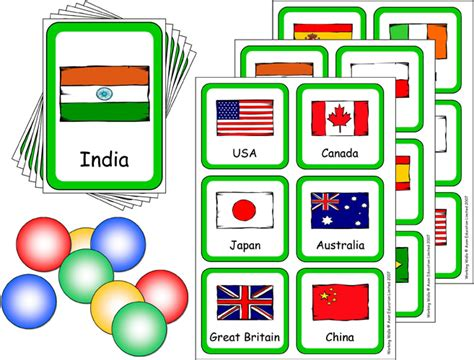 flags of the world game printable lotto game with flashcards flags of the world little