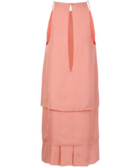 Pink Layered Dress lyst acne studios pink layered dress in pink