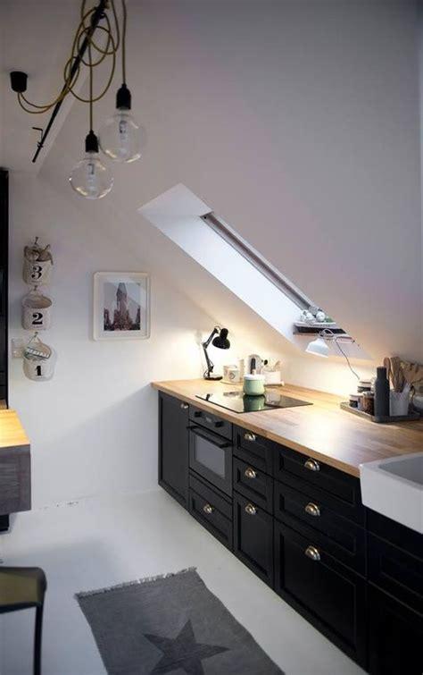 smart ways  decorate  attic kitchen digsdigs