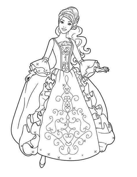 coloring pages ball gowns ball gown anime girl coloring pages
