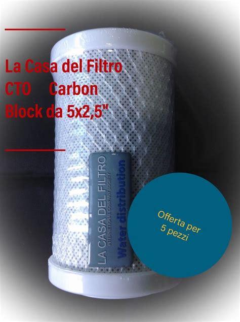 10cto Carbon Blok Calgon Usa filtro acqua carbone attivo cto 5 quot pollici 5x2 5 depuratore osmosi inversa la casa filtro
