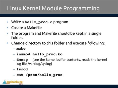 tutorial linux kernel module write a makefile c