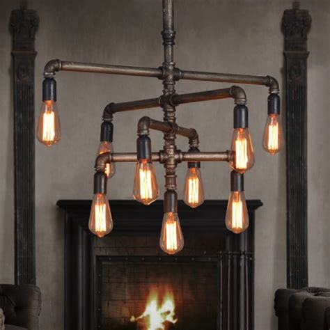 30 Industrial Style Lighting Fixtures To Help You Achieve Pipe Chandelier