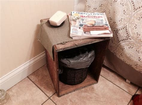 small bathroom idea an crate doubles as a table and