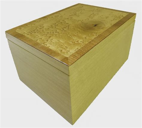 Handmade Keepsake Boxes - keepsake box bird s eye maple with cherry inlay handmade