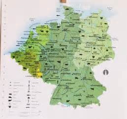 West Germany Map by Vintage Map West Germany East Germany Map Book By