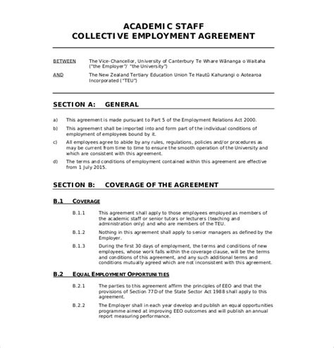 agreement document template 19 employment agreement templates free sle exle