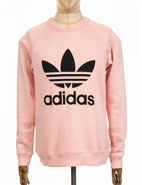Adidas Logo V Neck Vapour Pink Original adidas originals trefoil sweatshirt vapour pink black clothing from buddha store uk
