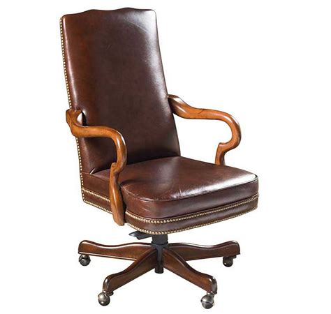Buy Armchair Design Ideas Brown Leather Wood Office Chair With Pneumatic Seat Height Adjustment Home Interior Exterior