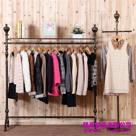 Hanging Curtains From Ceiling by 2017 Young Wrought Iron Clothing Rack Clothing Store