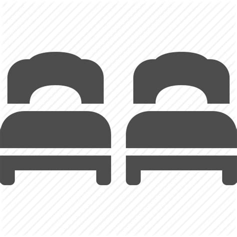 White Twin Beds Bed Beds Double Hotel Room Twin Icon Icon Search Engine