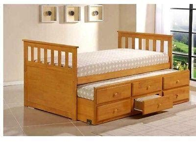 king bed with trundle trundle king single bed white or honey with drawers