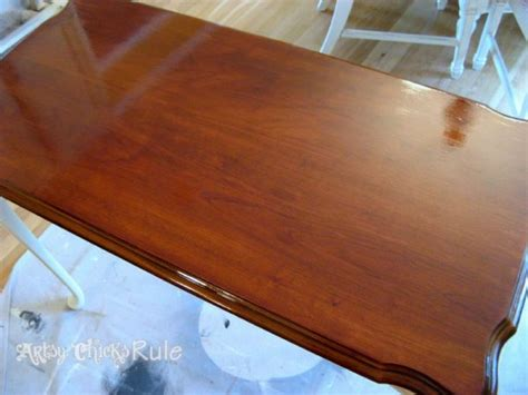 update wood stained furniture easily quickly artsy rule 174
