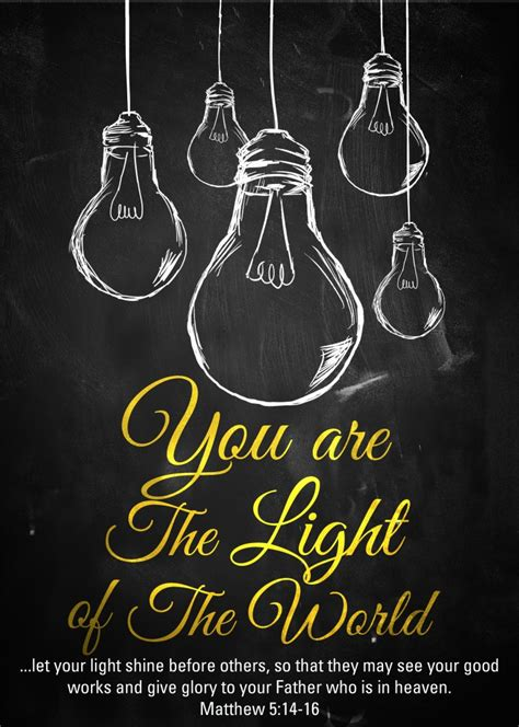 scripture about being the light day 6 you are the light of the world